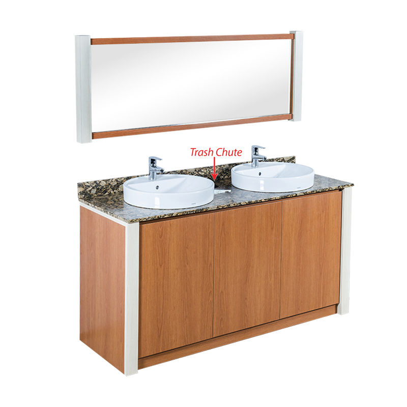 VT Double Sink wFaucets 60'' - New Color